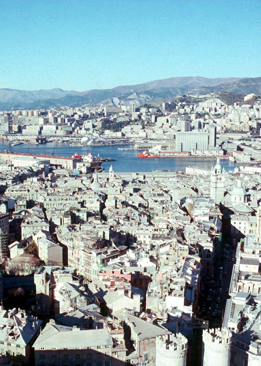 Centro storico from the Terrazza Martini - Genoa, Fall 1988 | Genova ...