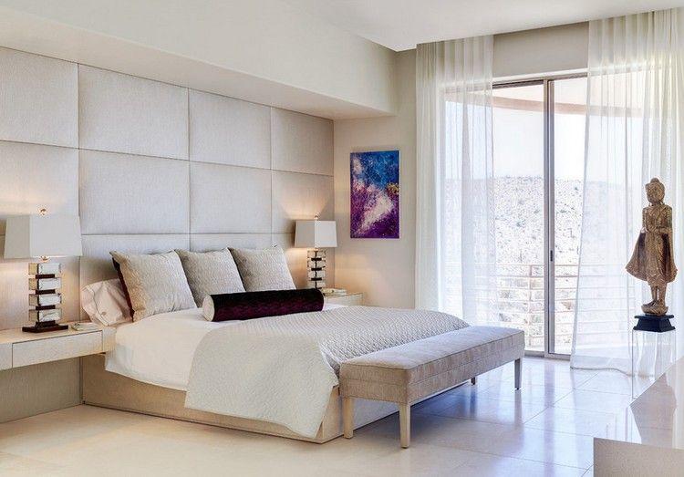 Fantastisch Cremefarbene Wandpolsterung Im Schlafzimmer | Wandverkleidung