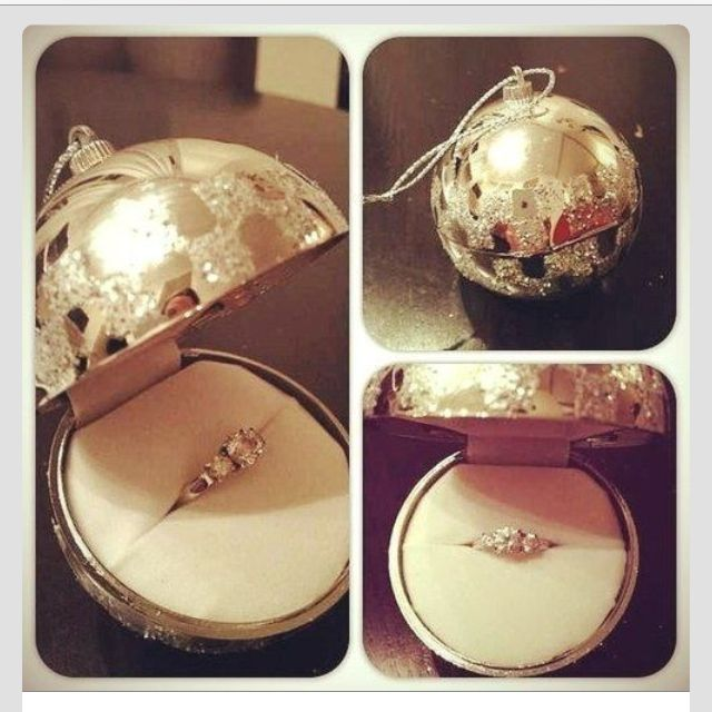 Christmas Ornament Ring Box Christmas Proposal Engagement Dream Wedding