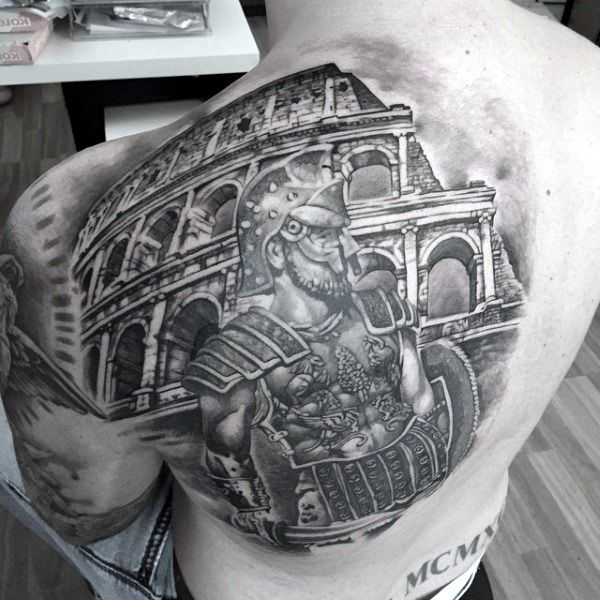 40 Valiant Gladiator Tattoo Designs | Gladiator tattoo ...