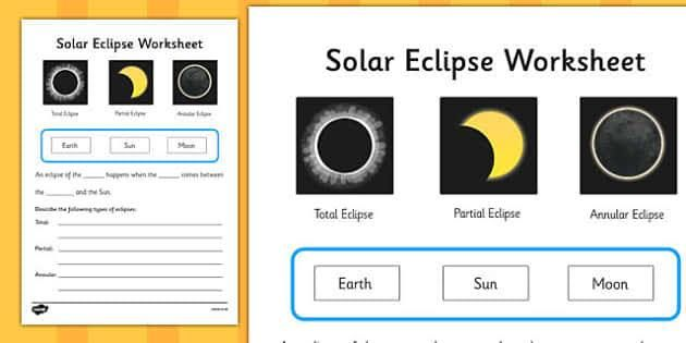 Preview Of Solar Eclipse Activity Sheet Solar Eclipse Activity Solar Eclipse Solar Kindergarten solar eclipse worksheet