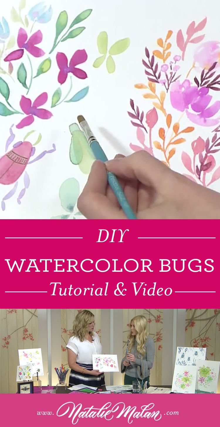 How To Paint Watercolor Bugs Diy In 2020 Diy Watercolor