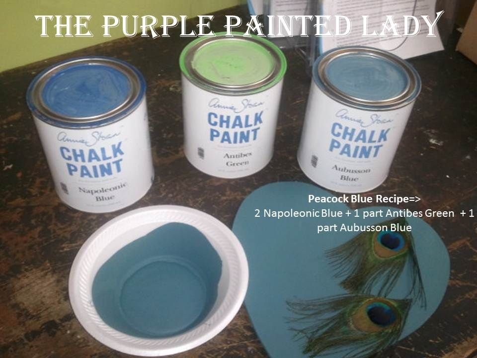 Ascp Mixed To Peacock Blue Chalk Paint Pinterest