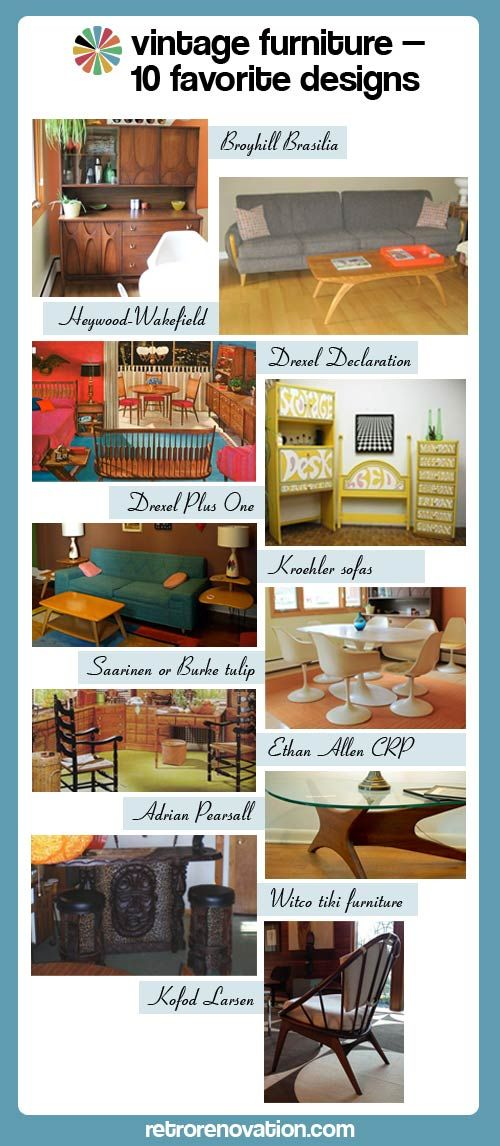 Vintage Furniture    10 Favorite Designs     Retro Renovation     Plus Four  Key Reasons To Buy Vintage Furniture, And More Information About Styles, ...