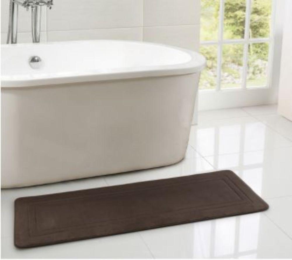 Soft And Plush Brown Memory Foam Bath Rug With Anti Slip Backing 24 X 60 Inch Bathrug Memoryfoam Bathmat Cottonrug Memory Foam Bath Rugs Bath Rug Bath Rugs [ 892 x 1000 Pixel ]
