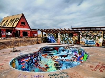 7 Ghost Towns to Visit on a Route 66 Road Trip ... the photo is of Two Guns, which I visited. It was pretty cool.