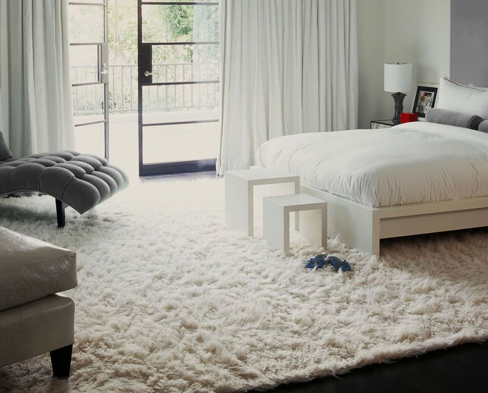 Flokati Shaggy Wool Rug White Ivory Shag In Many Sizes 3x5 4x6 5x7 8x10 9x12 Tiffany Blue Bedroom Bedroom Design Blue White Bedroom Bedroom design size 4x6