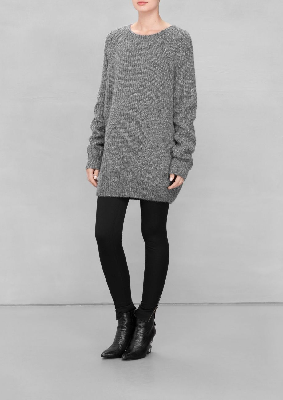 Oversized Wool Sweater | Grey | Wool sweaters, Stylish girl and ...