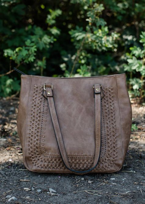 Taupe Braided Handbag Boutique Online
