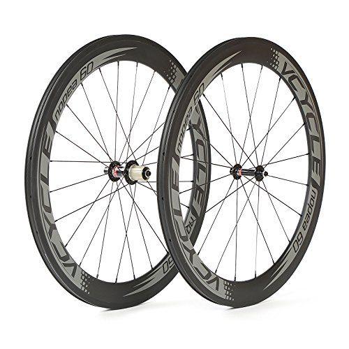 Bike Wheels Vcycle 700c 60mm Clincher Carbon Wheels 1595g