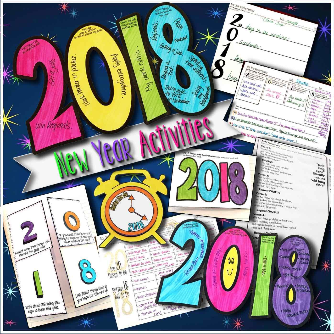 New Year Activities Resolution Goals Creative Growth
