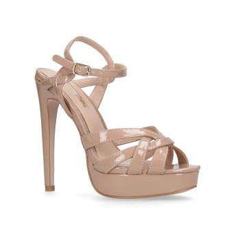 Ebony Metallic High Heel Sandals By Miss KG | Kurt Geiger