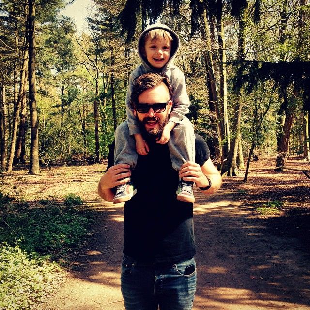 STEFAN HELLEBLAD and Son On a Walk in the deep dutch forests!