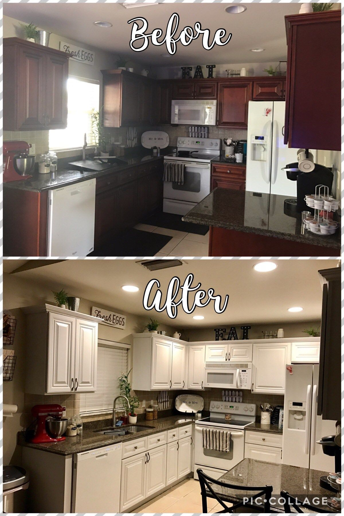 Paint Kitchen Cabinets With Chalk Paint Chalk Paint Kitchen Cabinets Diy Kitchen Cabinets Painting Kitchen Cabinets Before And After
