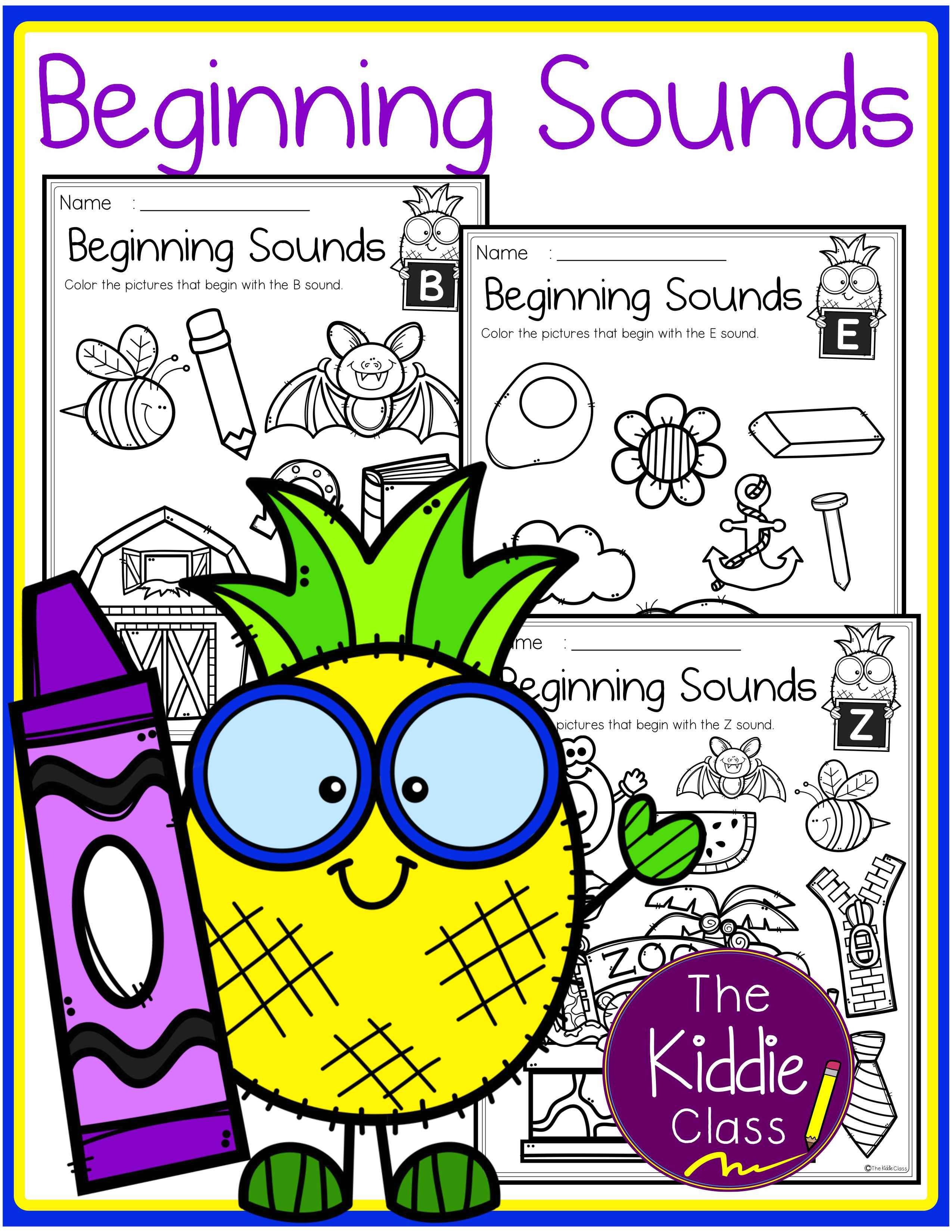 Alphabet Beginning Sounds Printables