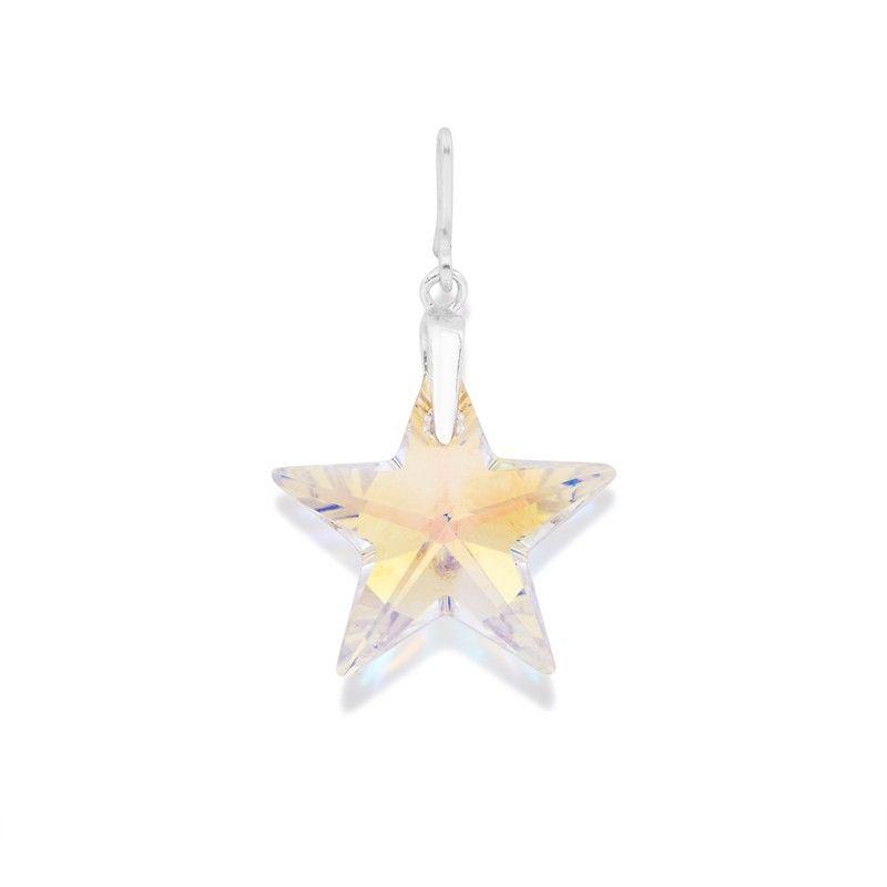 Silver Wish Swarovski® Crystal Star Necklace Charm