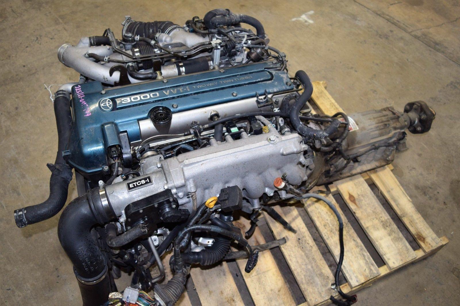 Details about JDM Toyota 2JZ-GTE VVTi Engine Twin Turbo Supra Aristo
