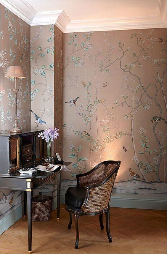 Photo of Veggstoff: 60 inspirasjoner fra miljøer dekorert med stoff – nye dekorasjonsstiler