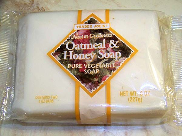Trader Joe's Oatmeal & Honey Soap - Super inexpensive, smells great (soft not overpowering), all-natural and chemical free. I would never think about using anything else. Also, it's not tested on animals.