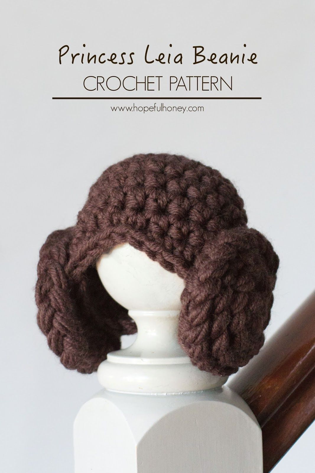 Princess Leia Inspired Beanie Crochet Pattern | crochet | Pinterest ...