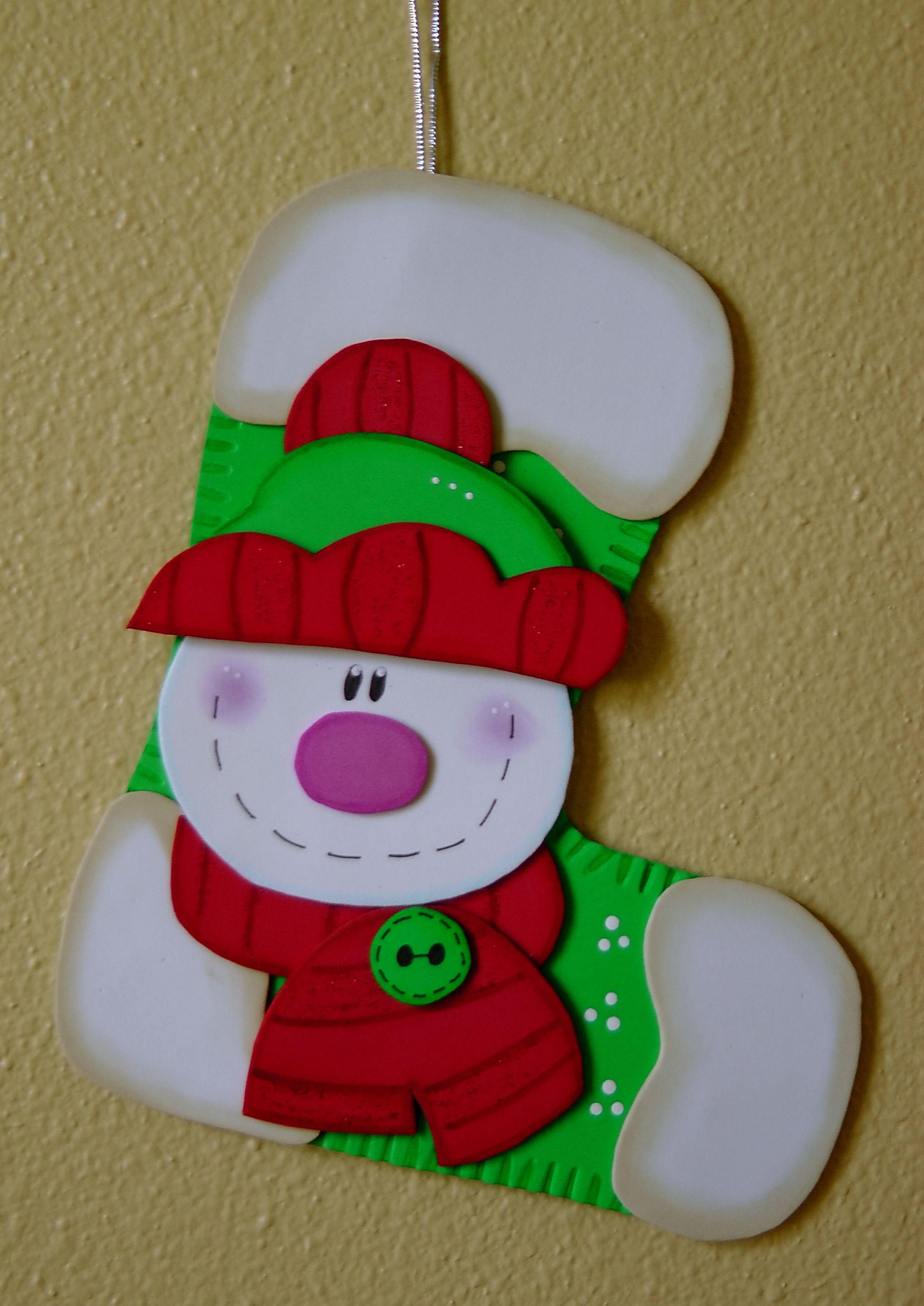 Bota De Navidad Www Facebook Com Manualidadeskarelia Yaotl  ~ Manualidades De Adornos Navideños