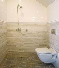 Celebrating Ingenuity Fine Homebuilding Article A European Style Wetroom Shower In Powder Room Footprint