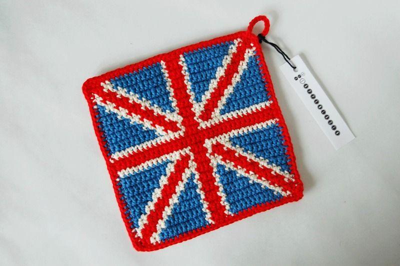 Topflappen Union Jack #potholder | Häkeln | Pinterest