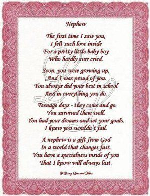 Love You Nephew Poems | Nephew poem is about a special