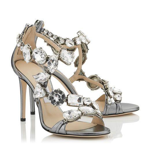 Karmia Metallic Leather Dress Sandals j8ll90f