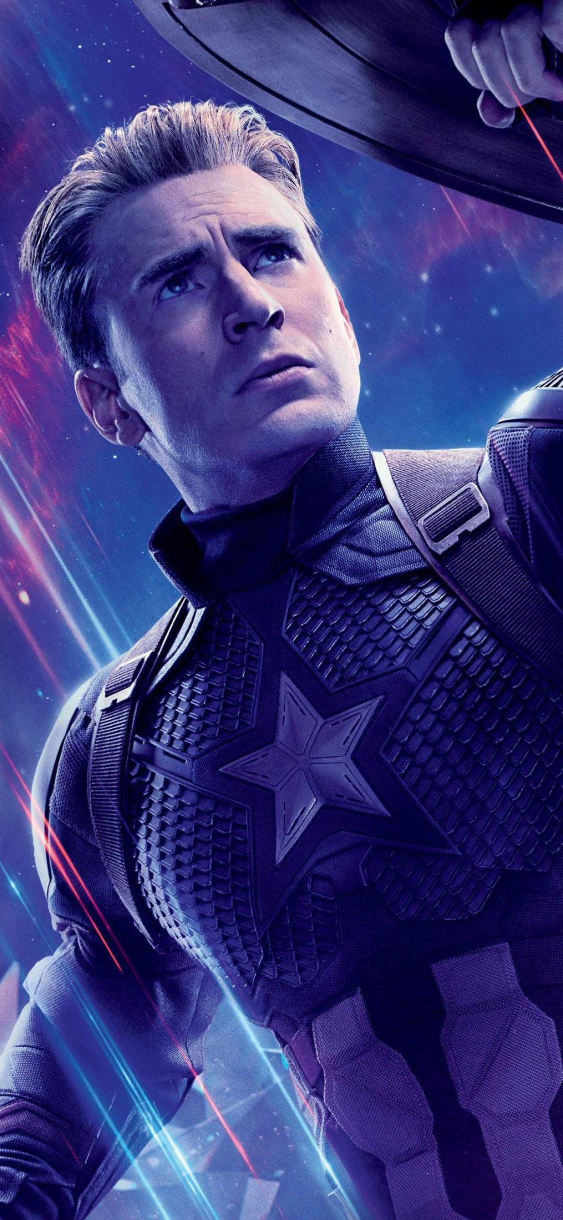 1125x2436 Captain America In Avengers Endgame Iphone Xs Iphone 10 Iphone X Hd 4k Wallpapers Imag Captain America Wallpaper Marvel Photo Marvel Captain America