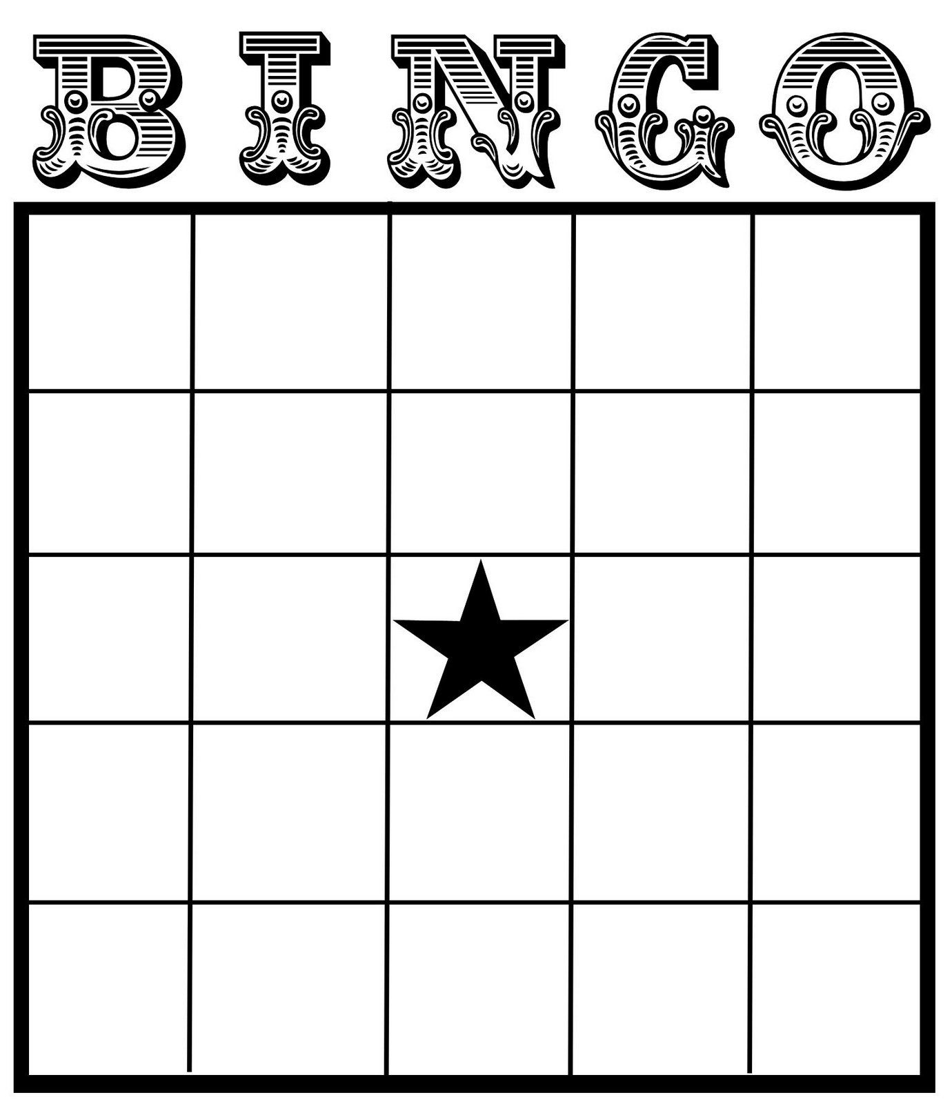 blank bingo card template word