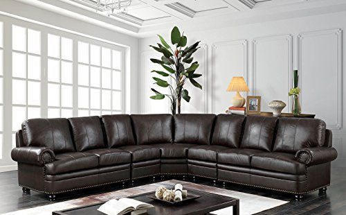 Outstanding Esofastore Edith Classic Top Grain Leather Match Sectional Pabps2019 Chair Design Images Pabps2019Com