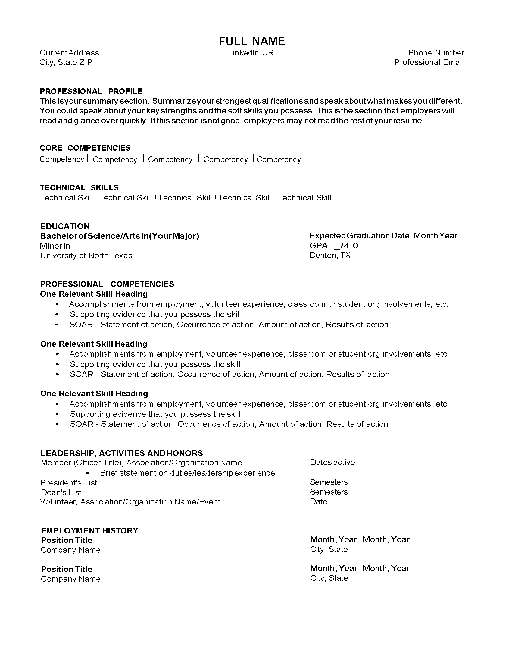 Resume Samples Division Of Student Affairs With Images