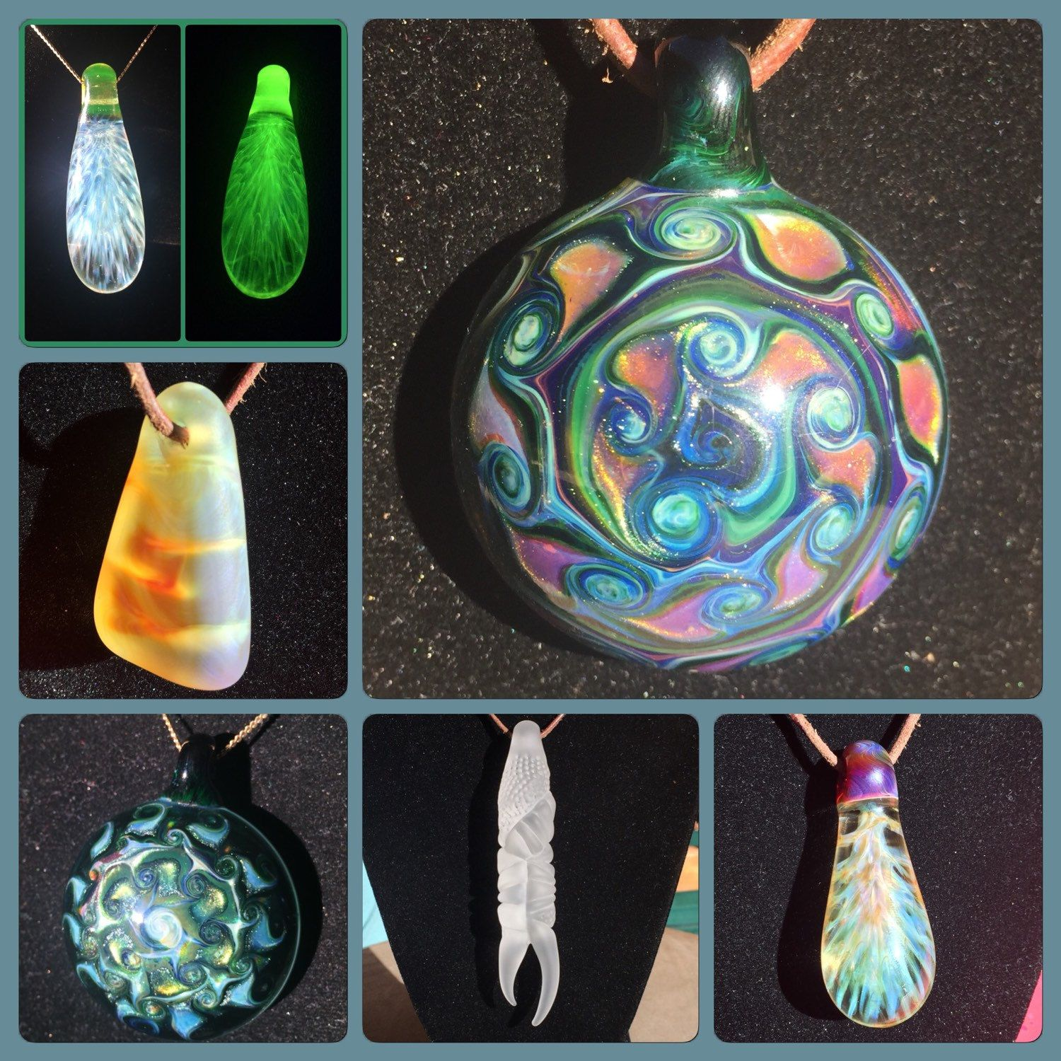 Beautiful pendants by PhilThy Glassworks of Loveland CO