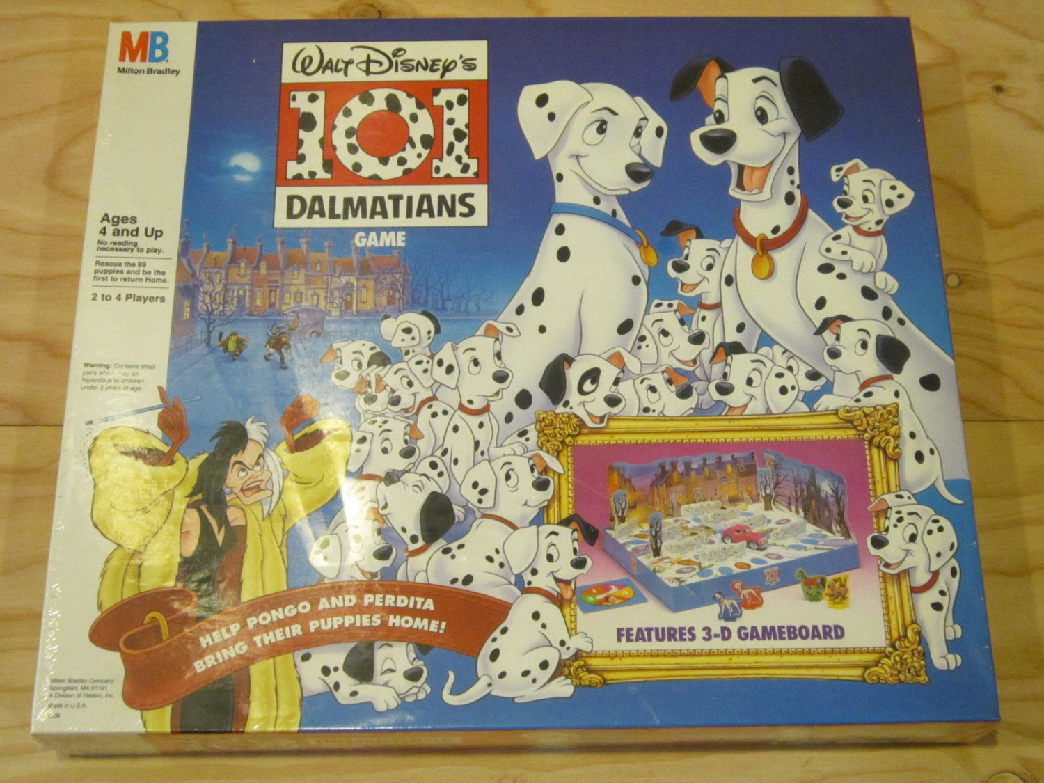 New And Sealed Walt Disney S 101 Dalmatians Board Game By Milton