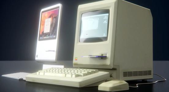Concepto de iMac homenaje al Macintosh original http://blogs.20minutos.es/clipset/concepto-de-imac-homenaje-al-macintosh-original/