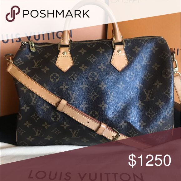 46429c96e12e Does not have lock and key. Comes with crossbody strap and dustbag Speedy  35 Bandouliere Louis Vuitton Bags Crossbody Bags