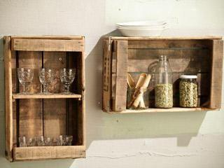 Cajasfrutasreciclar repisas Pinterest Reciclado Cajas y