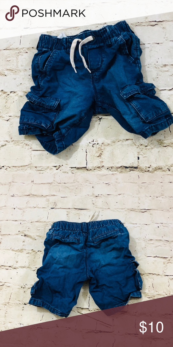 12cf03ca1c0 Boys 4T denim jean cargo shorts NWOT Beautiful color! Bought for a vaca  during the
