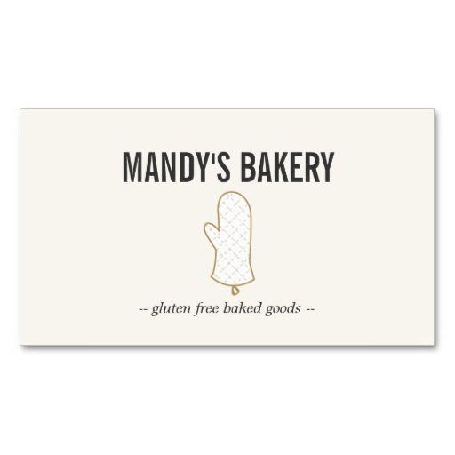 Oven mitt logo gold on beige for bakery business card bakery oven mitt logo bakery business card template customize for your bakery homemade baked goods reheart Gallery