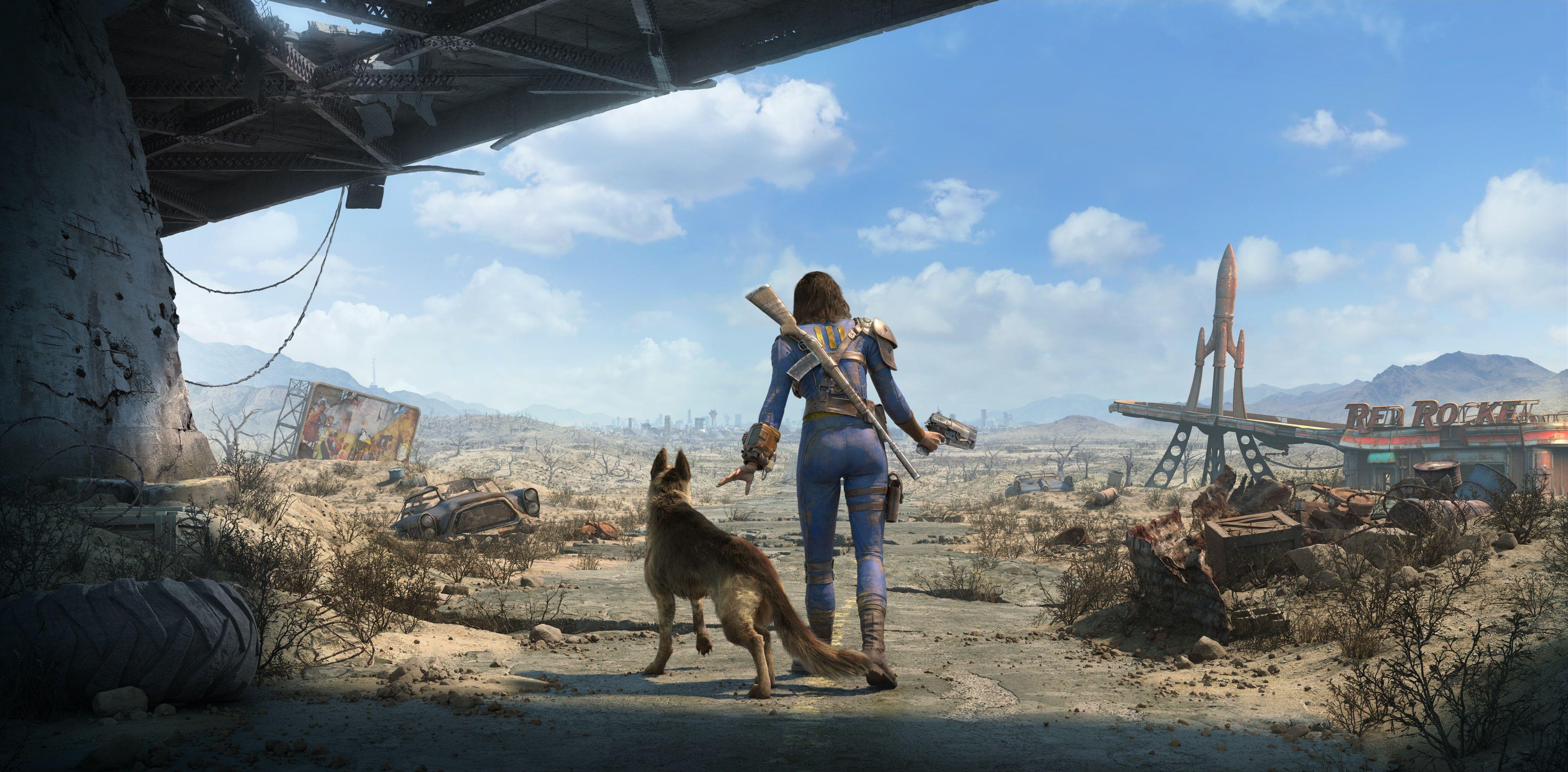 Girls Dogs Road Fallout 4 Nora 4k Wallpaper Hdwallpaper Desktop In 2020 Fallout 4 Wallpapers The Neighbourhood Fallout