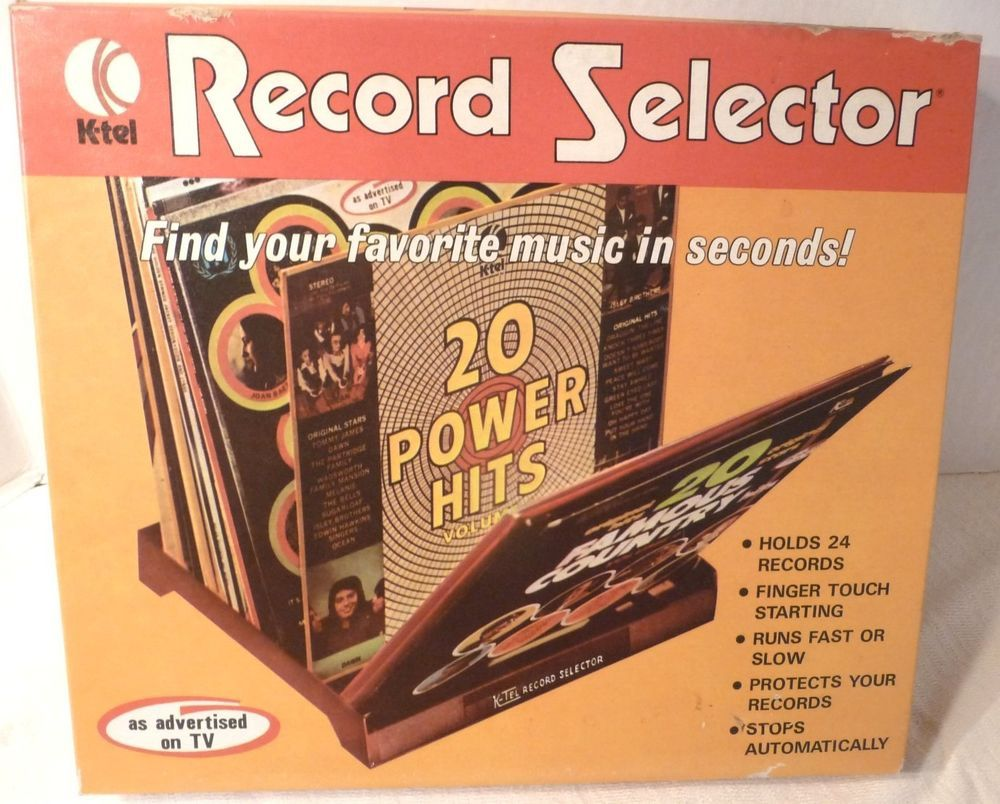Vintage K Tel Record Selector New In Box 1972 Vinyl Lp