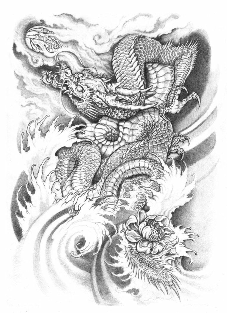 Pin By Ally Somethin On Thigh Tattoo Japanese Dragon Tattoos Dragon Tattoo Dragon Tattoo Designs