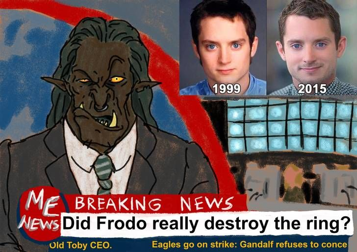 Did Frodo really destroy the ring? - Imgur