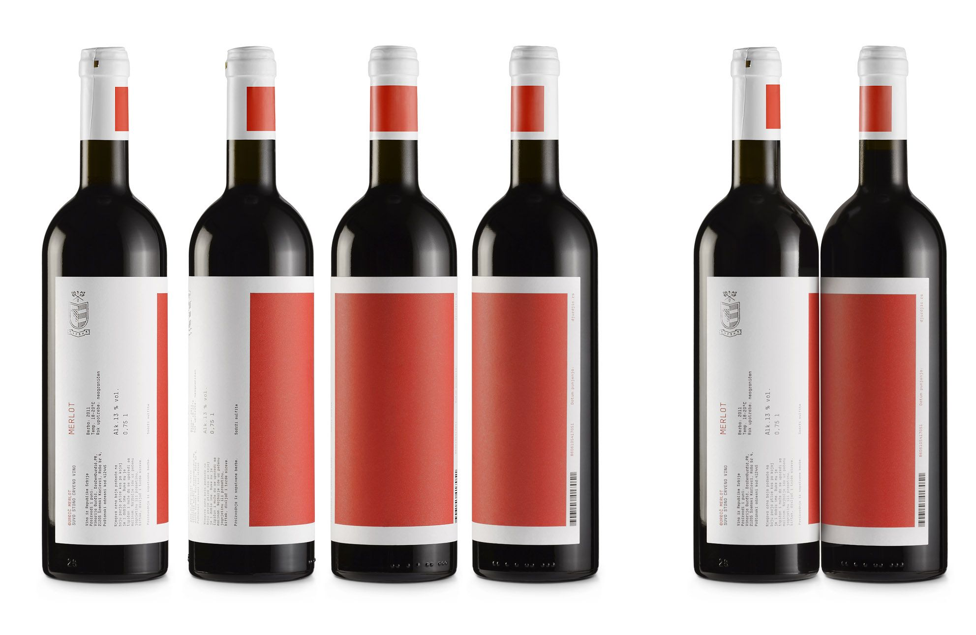 New Packaging For Djurdjic Winery By Peter Gregson Bp O Wine Label Design Wine Packaging Wine Design