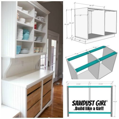 Plans For China Cabinet Base Building Kitchen Cabinets