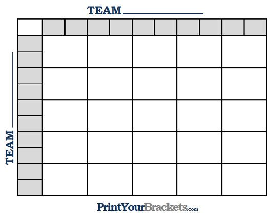 Square Grid Nfl Football Pool  Templates    Nfl Football