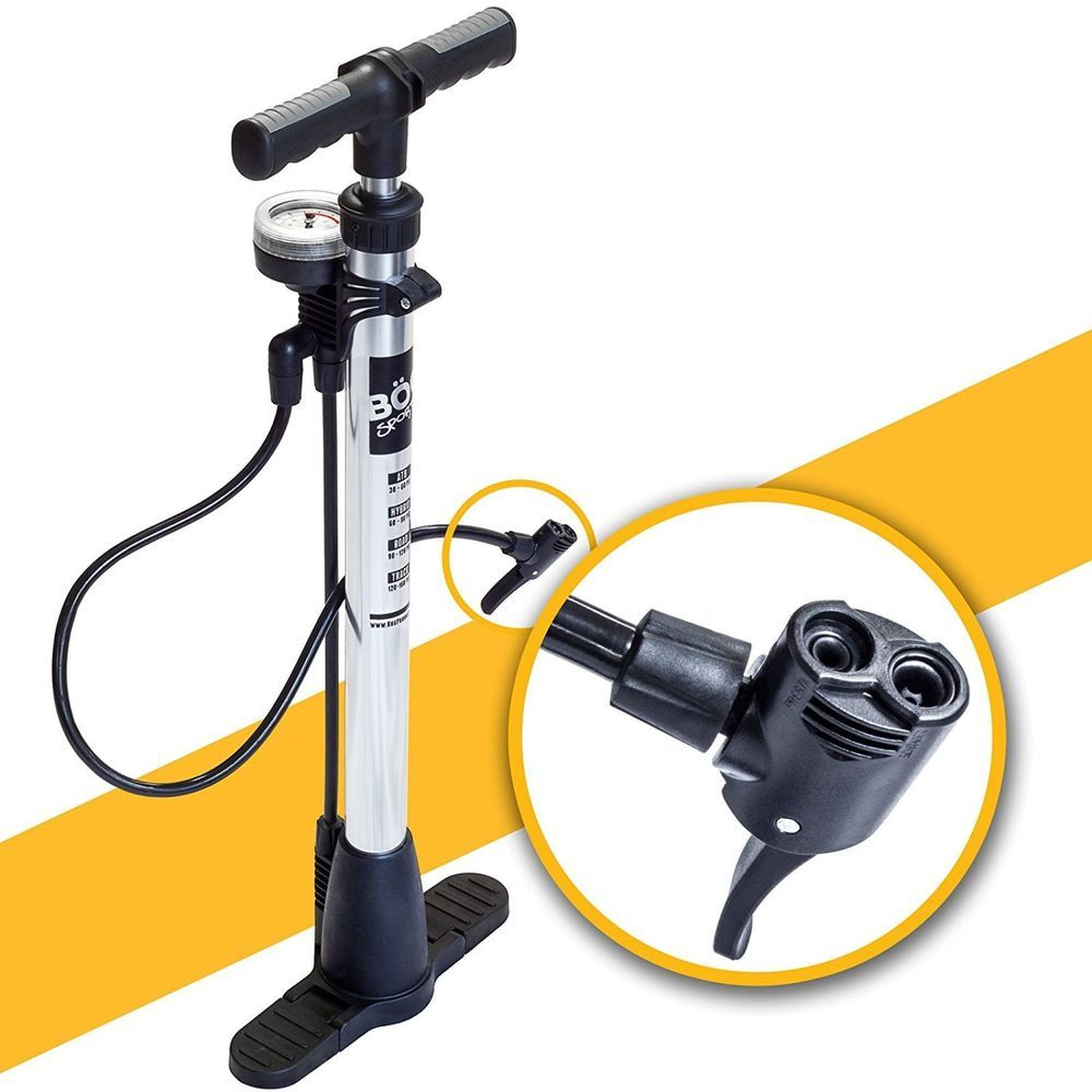 Tire Inflator With Gauge Manual Floor Air Pump Mountain Bike Heavy Duty Bicycle Bogproducts Bike Pump Bicycle Pump Bicycle Pumps