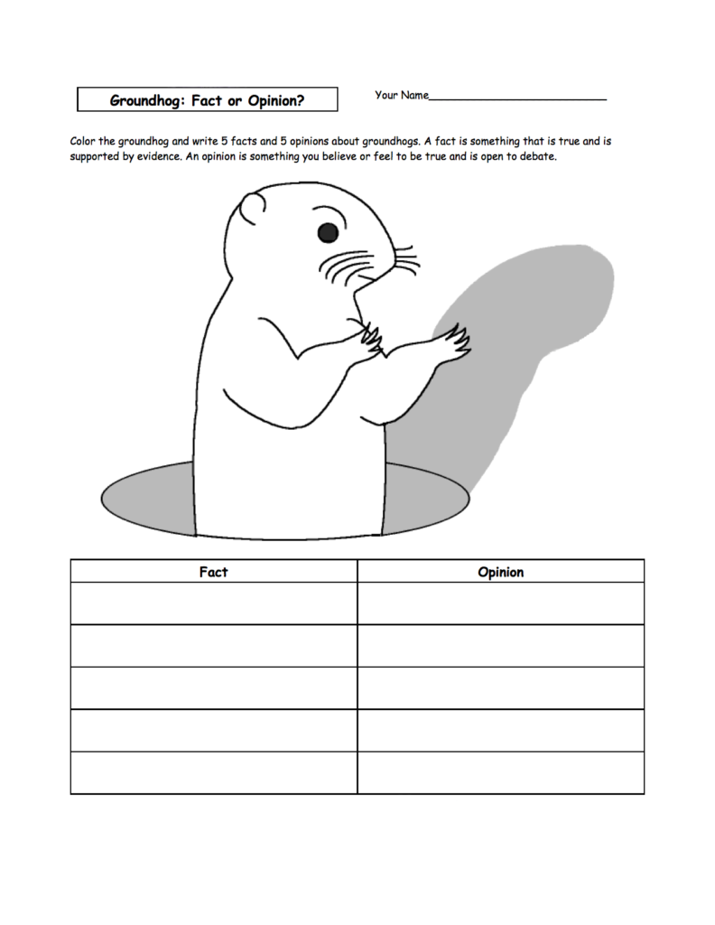 Coloring Rocks Groundhog Day Activities Groundhog Shadows Animal Worksheets [ 1024 x 792 Pixel ]