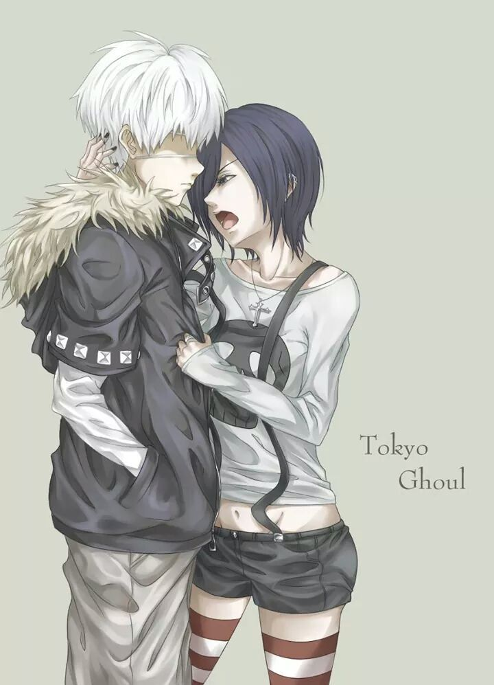 Tokyo Ghoul Kaneki y Touka Please tell me they run away together and live  happily ever after? My heart wont be able to take this much pain.